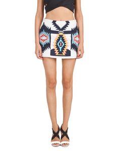 Love this Aztec print skirt