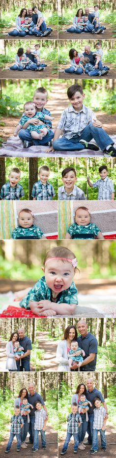 Summer pictures in the forest! Toronto Family Photography--except in a peach grove!