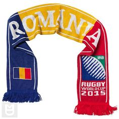 ROMANIA - Rugby WC 2015 Scarf Ideal Gift for all Rugby Fans Scarf Dimensions x approx Brand New with Tags - Header Card Official Licensed Rugby World Cup, Irb Rugby, Romania, Brand New, Header, Fans, Shopping, Gift, Fashion