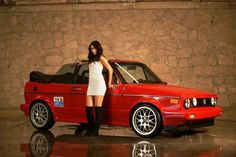 Mk1 Volkswagen Golf Mk1, Vw Mk1, Golf 1 Cabriolet, Convertible, Hot Vw, Cool Picks, Golf Mk2, Vw Cars, Girl Poses