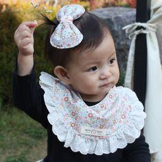 Cute Newborn Baby Bib Frilly Bib Lace Cotton Infant Toddler Handmade Eb228 #Ggoomduboo