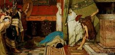 Sir Lawrence Alma-Tadema - Death of Caligula / Alma-Tadema