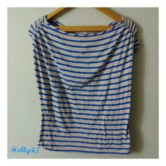 FREE IN BUNDLE! Cap Sleeve Striped Top Well loved and still going strong.  Smoke/pet-free home. ✈✈ Fast Shipping ✈✈  20% BUNDLE DISCOUNT EVERYDAY!  Thanks for browsing my closet! Joseph A. Tops