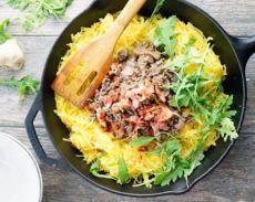 Beef and Mushroom Carbonara