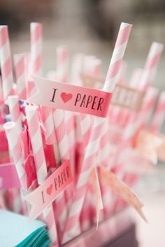 Oh So Beautiful Paper straws and flags