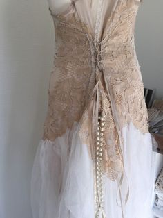 Wedding dress , bridal gown , lace wedding dress, RAW RAGS beautiful handmade ,one of a kind dress by RAWRAGSbyPK on Etsy https://www.etsy.com/listing/189219225/wedding-dress-bridal-gown-lace-wedding