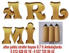 altın yaldız strafor boyası - varak strafor boyası - altın varak boya - yaldız strafor boyama -  strafor boyası