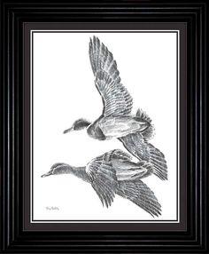 Terry Redlin Mallard Pencil Sketch