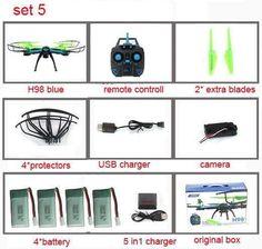 RC Drone HD Camera LED Lights