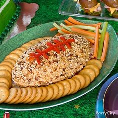 Football party food #cheese #diy
