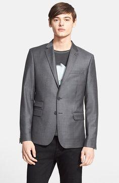 Men's The Kooples Trim Fit Double Button Wool Sport Coat
