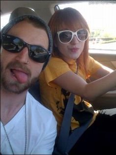 Hayley Williams and Jeremy Davis // Paramore