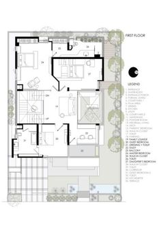 Morden House, Cleaning White Walls, Big Architects, Bungalow Floor Plans, India House, Indian House Plans, Model House Plan, Small Modern Home, Residential Architect