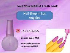 The top-notch nail shop in Los Angeles offers beautiful nail care services such as manicures, pedicures and nail enhancements. To keep your nails looking fresh, check out the latest collection for nail art. http://www.slausonsupermallinc.com/nail-shop.html