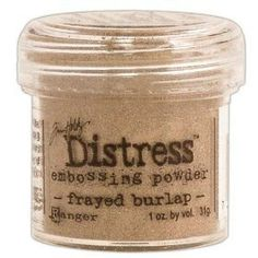 Over the Rainbow Pty Ltd : Tim Holtz Distress Embossing Powder - Frayed Burlap - It's a new revolution in embossing powders! Tim Holtz Distress powders have a special p. Embossing Powder, Broken China, Over The Rainbow, Tim Holtz, Baking Ingredients, Polymer Clay, Burlap, Diy Crafts, Jute