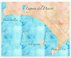 Map of Laguna del Diario, URUGUAY