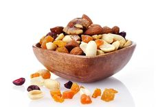 Homemade Trail Mix.  Go nuts and make your own trail mix with pistachios, macadamia nuts, walnuts, cashews, almonds, dried apricots, dried cheeries, dried cranberries and golden raisins.  Add mini pretzels and dark chocolate chips for a hint of sweetness.