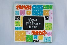 I see spots photo frame.  This fun frame is by ColorsbySherri, $65.00