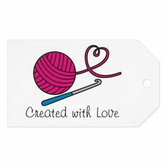 Crochet Video, Crochet Art, Love Crochet, Crochet Crafts, Yarn Crafts, Crochet Projects, Handmade Gift Tags, Personalized Gift Tags, Crochet Designs