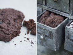 Chocolate Black Bean Power Cookies, sweetened with coconut palm sugar via Green Kitchen Stories #gf #vegan