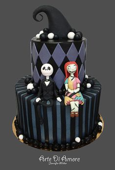 Nightmare Before Christmas cake, Would love to make this for Annie