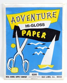 Ideal School Supply Adventure Hi-Gloss Paper Pack 40 Sheets Shiny Colored Paper 17785 by QueeniesCollectibles on Etsy