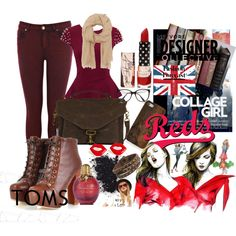 """""""collage girl"""" by thomcin on Polyvore"""
