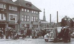 Leeuwarden: Hotel De Bleek en garage Engelsma & Wijnia op de Groningerstraatweg omstreeks 1936
