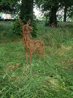 Roe deer willow sculpture