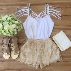 image Girly Outfits, Short Outfits, Outfits For Teens, Spring Outfits, Cool Outfits, Girl Fashion, Fashion Looks, Fashion Outfits, Tattoo Henna