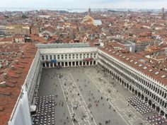 St Mark's Square, Venice seen from the Campanile Places Ive Been, Places To Go, Photo Diary, Venice Italy, Vacation Spots, Italy Travel, Family Travel, Paris Skyline, City Photo
