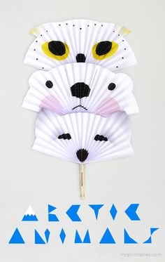 Arctic Animals DIY Paper Fans - Mr Printables