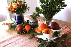 Rustic, organic table design.    This is lovely!