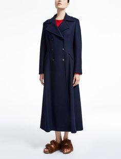 Max Mara MAGENTA blu marino: Cappotto in lana.