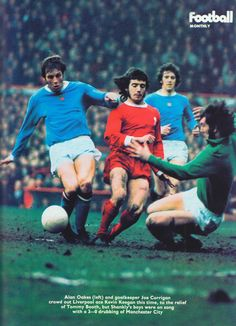26th February 1972. Manchester City trio Alan Oakes, Tommy Booth and Joe…