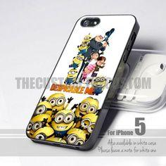 Despicable Me Minion 5 Design for iPhone 5 case   thecustom - Accessories on ArtFire