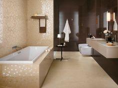 Fliesen Atlas Concorde Braun Gold Mosaik Badewanne Hochglanz throughout Badezimmer Braun Gold Modern Bathroom Tile, Bathroom Design Luxury, Bathroom Ideas, Dream Decor, Tile Design, Bathroom Furniture, My Dream Home, House Design, Interior Design