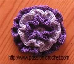 passion flower hook.  Flower patterns galore!