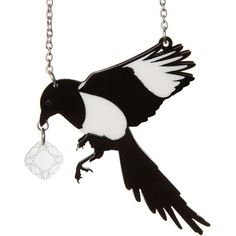 Magpie Necklace ❤ liked on Polyvore featuring jewelry, necklaces, multi layered necklace, layered necklace and laser cut jewelry