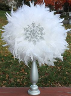 Feather centerpiece and party decoration by TheShowerPlanner