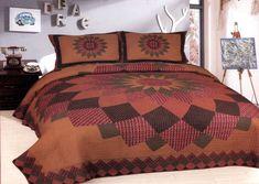 Horse Medley Quilt Set King Queen 3 Piece Cabin Checks Florals Bars Star