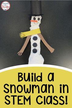 Stem Activity Challenge Build A Snowman