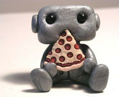 Pizza Robot by sleepyrobot13 on Etsy, $12.00