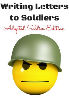 Writing Letters to Soldiers you've never met. The Adopted Soldier Edition.