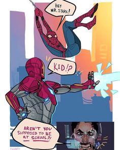 Spiderman - Iron Man comic we all need it Avengers Humor, Marvel Avengers, Marvel Comics, Funny Marvel Memes, Marvel Jokes, Dc Memes, Marvel Heroes, Captain Marvel, Captain America