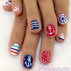 Nautical summer nail art  14 Art Ideas You Need To Try This Summer