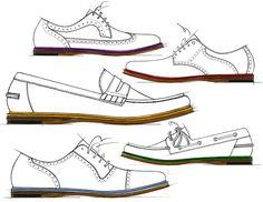 Sketch of vintage men's shoes.