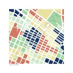 The Fan in Richmond Map Print