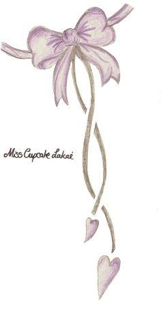 Lace bow Tattoo | Bow Tattoo Designs