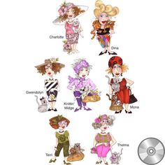 Cat Ladies Embroidery Design Collection | CD - Embroidery Designs – Loralie Designs®